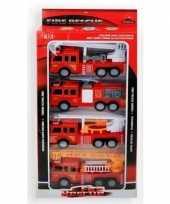 Afgeprijsde speelgoed brandweerwagen set 4 delig