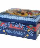 Afgeprijsde speelgoed opbergdoos paw patrol blauw 49 cm