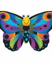 Afgeprijsde speelgoed vlieger gekleurde vlinder 76 x 112 cm