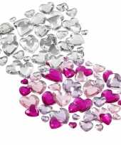 Afgeprijsde strass plak hartjes steentjes mix 504 stuks