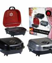 Afgeprijsde tafel barbecue koffer zwart 41 x 42 cm