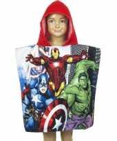 Afgeprijsde the avengers cartoon zwembadponcho rood