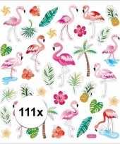 Afgeprijsde tropische vogels en deco stickers 111 stuks