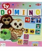 Afgeprijsde ty beanie speelgoed domino spel