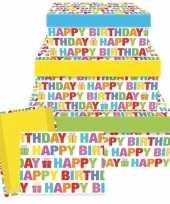 Afgeprijsde verjaardag cadeauverpakking happy birthday 17 5 cm