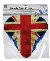 Afgeprijsde zadelhoes fiets met groot brittannie vlag print