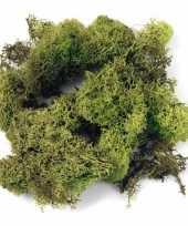 Afgeprijsde zakjes met lichtgroene mos