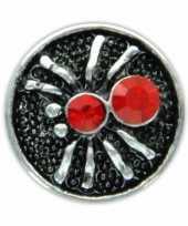 Afgeprijsde zilveren chunk met spin rood 1 8 cm