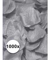 Afgeprijsde zilveren rozenblaadjes van stof 1000 st
