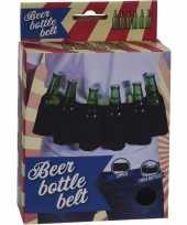Afgeprijsde zwarte riem voor 6 pack bierflessen