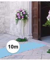 Babyshower artikelen 10 meter lichtblauwe loper 1 meter breed