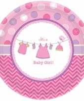 Babyshower bordjes its a baby girl