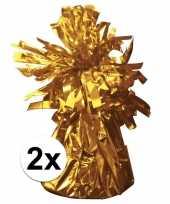 Ballon gewichten goud 2 stuks