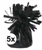 Ballon gewichten zwart 5 stuks