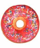 Bank kussen donut fuchsia 40 cm