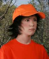 Baseballcap voor kinderen oranje