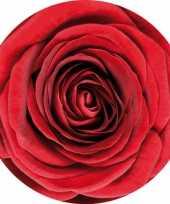 Bierviltjes met bloem rode rozen 10 st