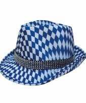 Blauw en wit oktoberfest hoedje