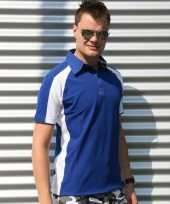 Blauwe polo shirts voor heren lemon soda