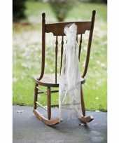 Bruidspaar stoelversiering organza