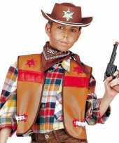 Bruine cowboy vest voor kids