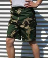 Camouflage korte broek voor heren