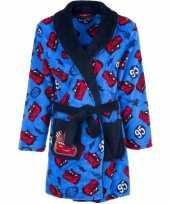 Cars fleece ochtendjas blauw voor kids