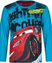 Cars kinder t-shirt petrol blauw