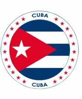 Cuba vlag print bierviltjes