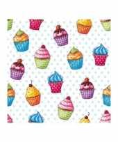 Cupcakes print servetten 25 cm