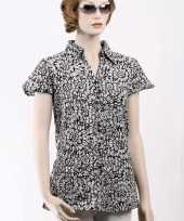 Dames blouse met korte mouwen