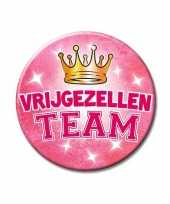 Dames vrijgezellen team button groot