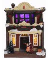 Decoratie kersthuisje met led licht type 3
