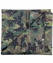 Dekzeil 5 x 6 meter camouflage