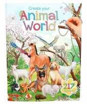 Dierenwereld stickerboek met 217 stickers