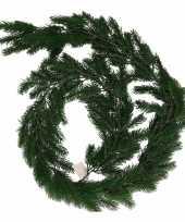 Donkergroene kerst guirlande 180 cm