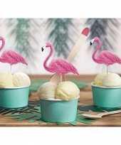 Flamingo kaasprikkertjes 6 stuks