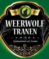 Flessen etiketten voor weerwolf tranen