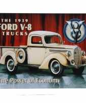 Garage decoratie plaat ford v 8