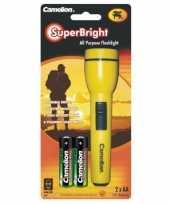 Gele camping zaklamp voor kinderen