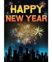 Gelukkig nieuwjaar mega deurposter