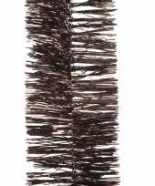 Glamour christmas bruine kerstversiering folieslinger 270 cm