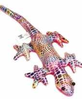 Glanzende gekko knuffel 21 cm