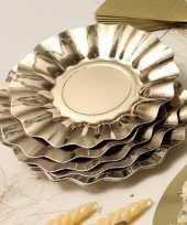 Gouden diepe barbecue borden 21 cm