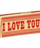 Grappige kauwgom i love you