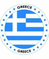 Griekenland vlag print bierviltjes