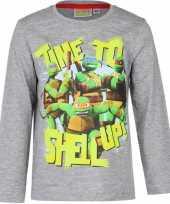Grijze ninja turtles shirt voor kids