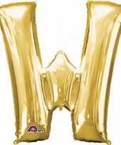 Grote letter ballon goud w 86 cm