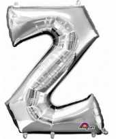 Grote letter ballon zilver z 86 cm