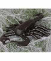 Halloween beestjes zwarte schorpioen 20 cm